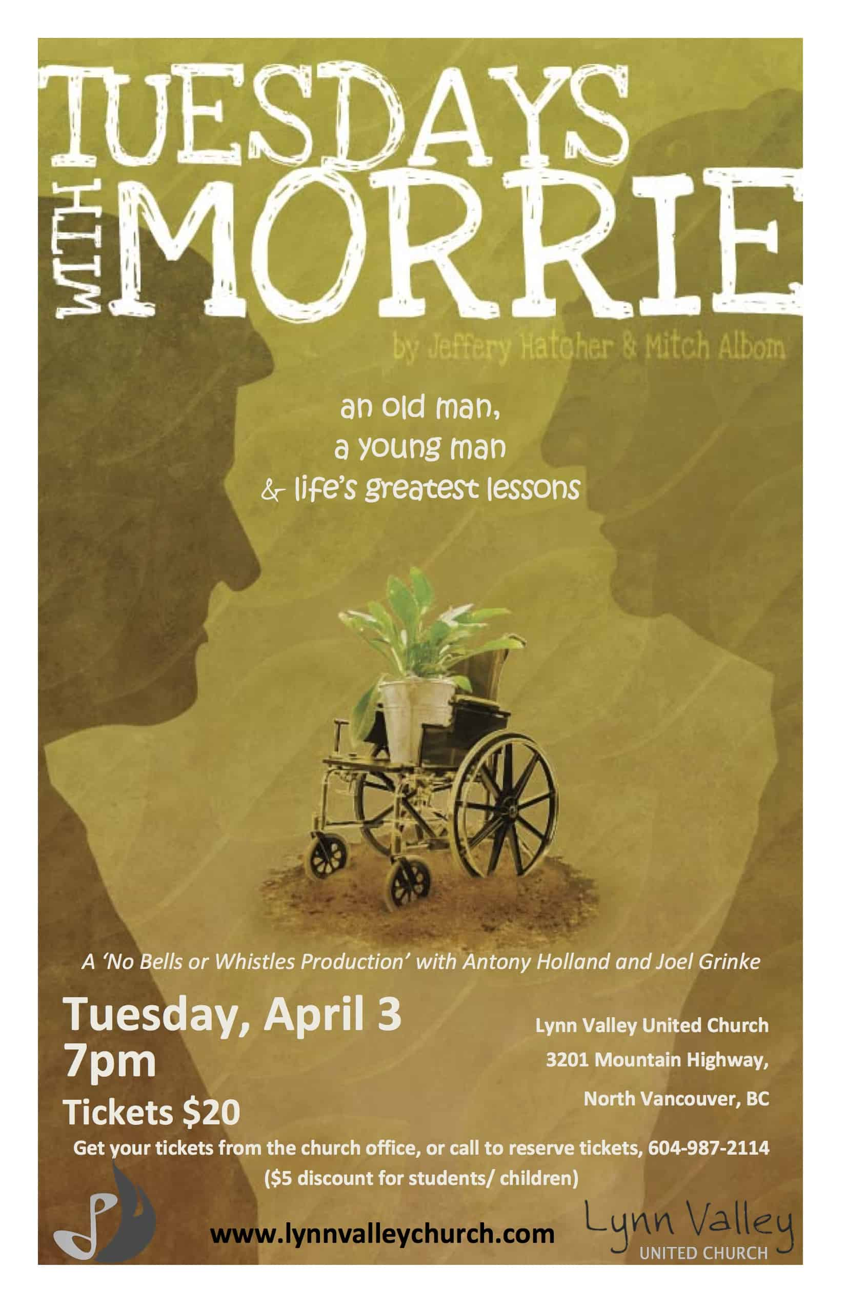 Tuesdays with Morrie: live-theatre treat comes to Lynn Valley!