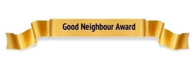 Good Neighbour Award Winner Ribbon
