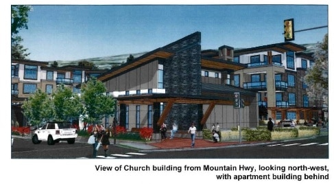Proposed church rendering