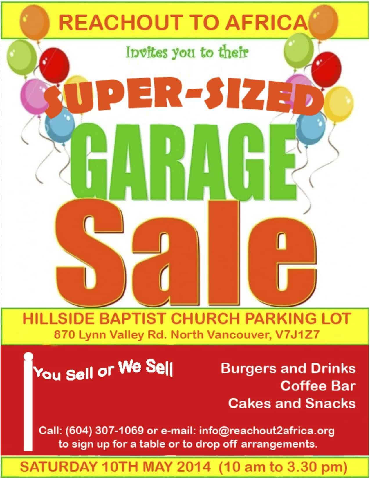 buy sell and support charity at huge lv garage sale event