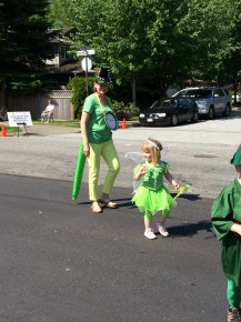 Fairy tale princesses and other book characters marched along with the NVD Library parade entry.
