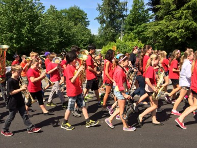 Lynn Valley Elementary Band's rendition of Louie, Louie was enjoyed by all.