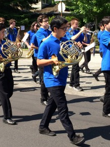 Marching bands had the perfect weather to strut their stuff.