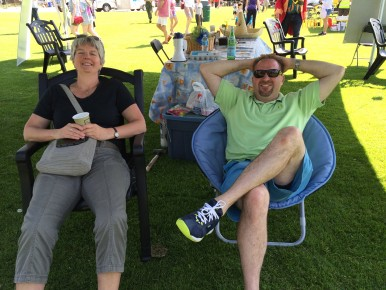 They may be relaxing now, but things got pretty hectic at the LVLife Games pitch once the parade was over!