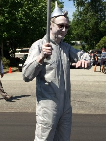 A Tin Man from LV United looked the part.