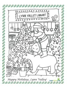 Santa at LV Library