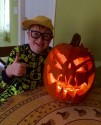 YouTuber Fraser with his pumpkin